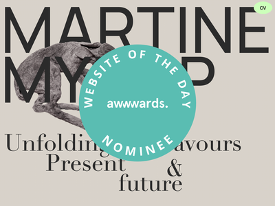 Martine Myrup - Site of the day nominee - Awwwards awwwards site of the day