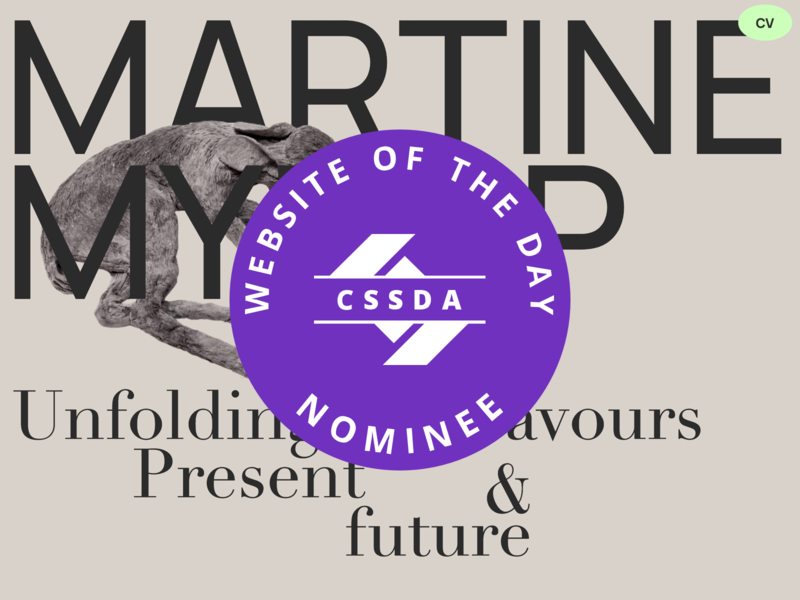 Martine Myrup - Site of the day nominee - CSS Design Awards site of the day
