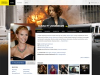 IMDb Redesign - Actor page