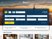 Expedia frontpage
