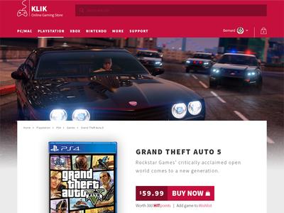 KLIK Online Gaming Stor