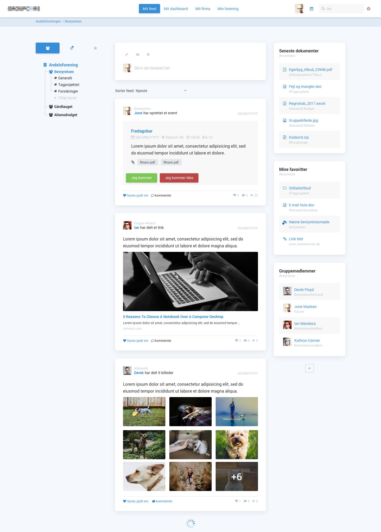 Social platform feed