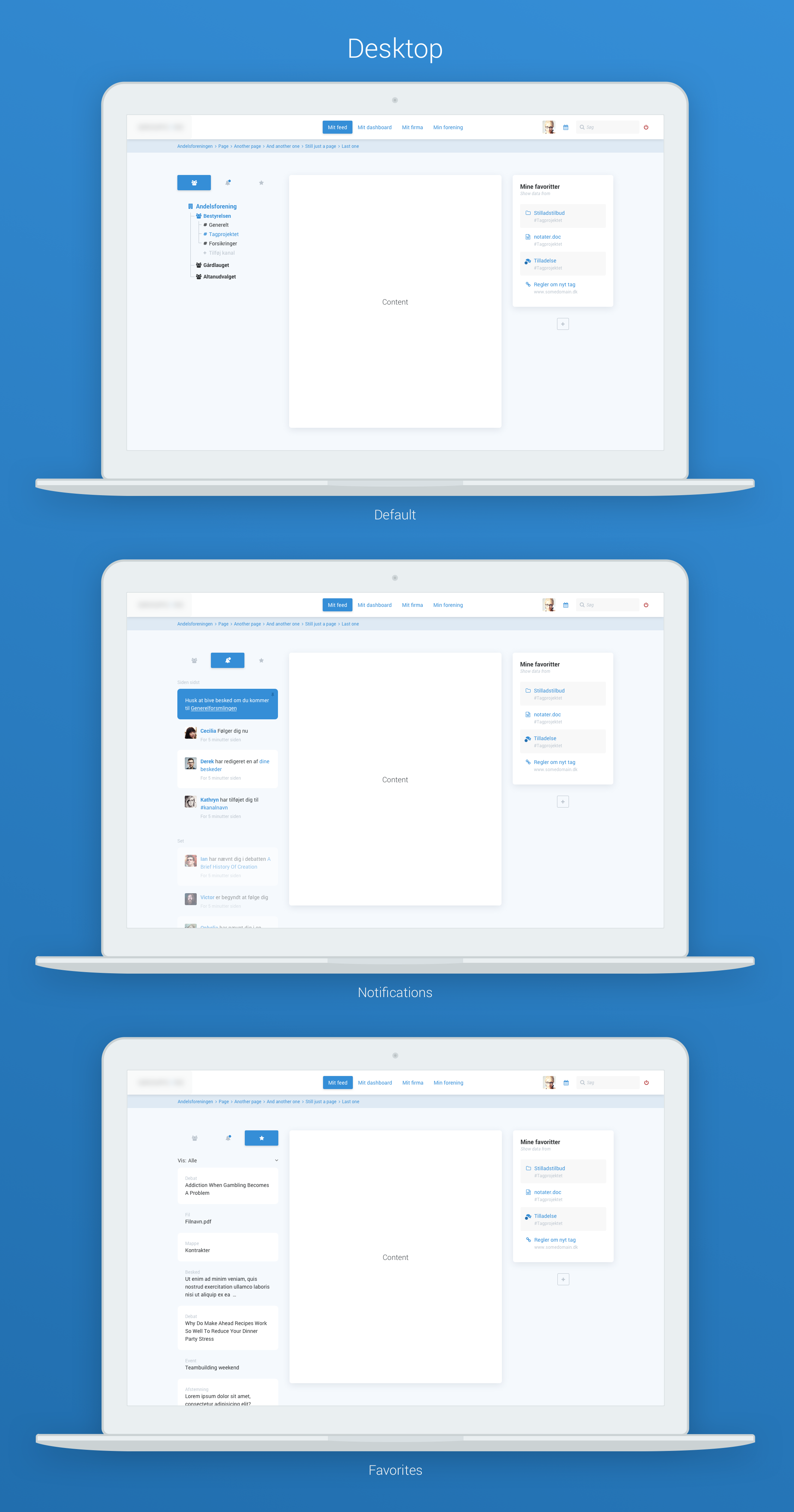 Social navigation desktop