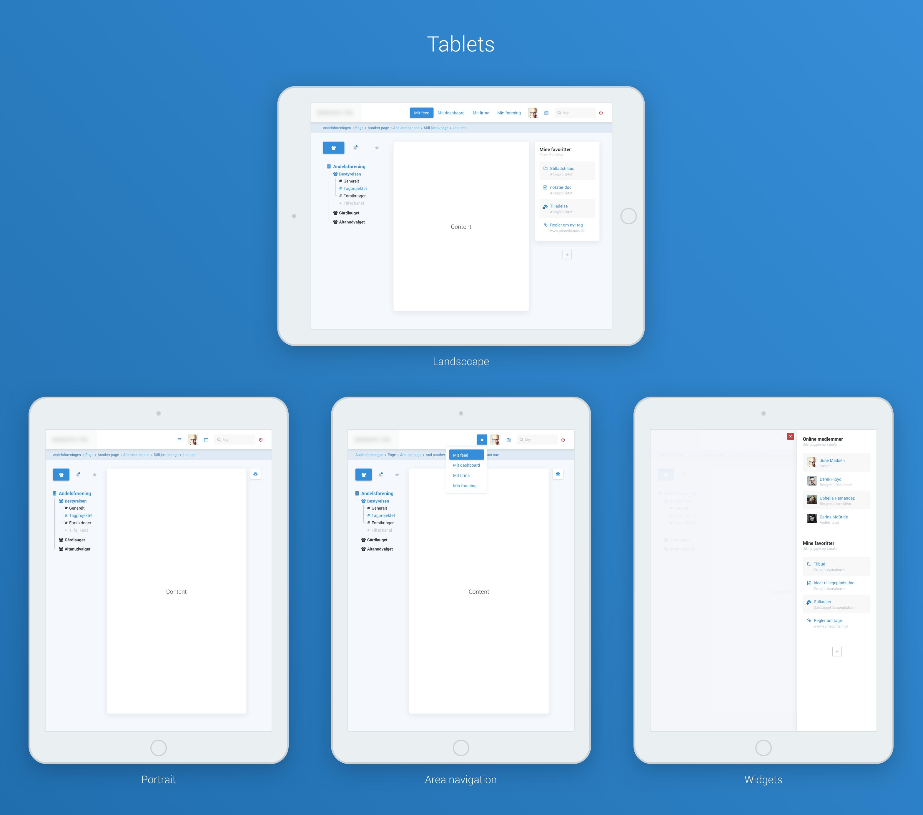 Social navigation tablets