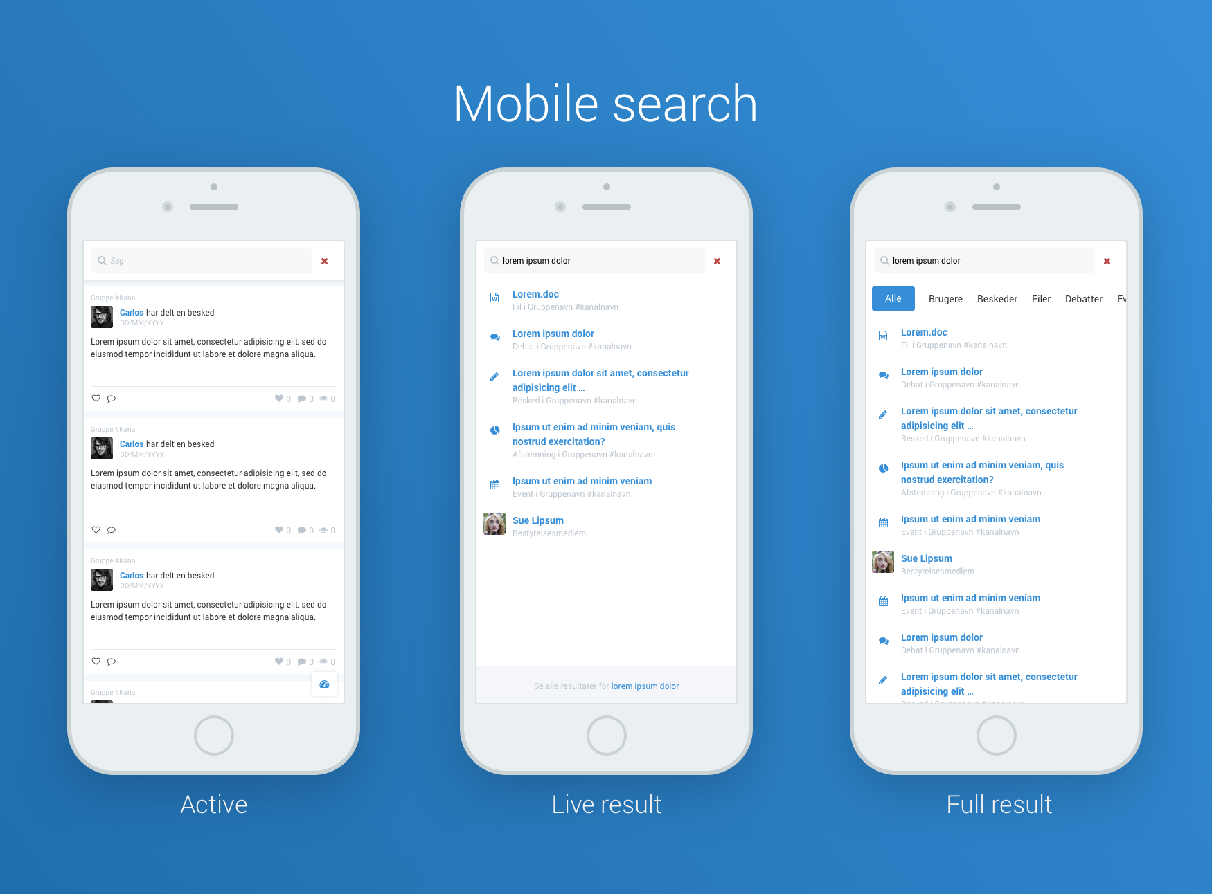 Social navigation search mobile