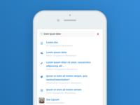 Social Platform - navigation - search