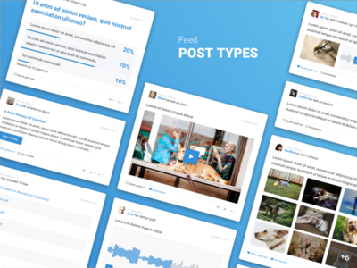 Post types social platform post types posts post feed