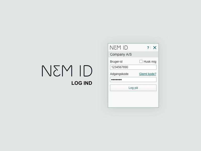 NEM ID - log ind boks - sketch fil log ind log in download resource sketch resource nem id nemid sketch