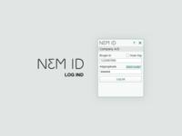 NEM ID - log ind boks - sketch fil