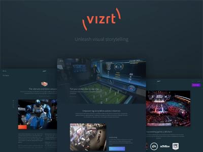 New vizrt.com - Unleash visual storytelling sitecore 9 product page frontpage article page content creation content design sketch design
