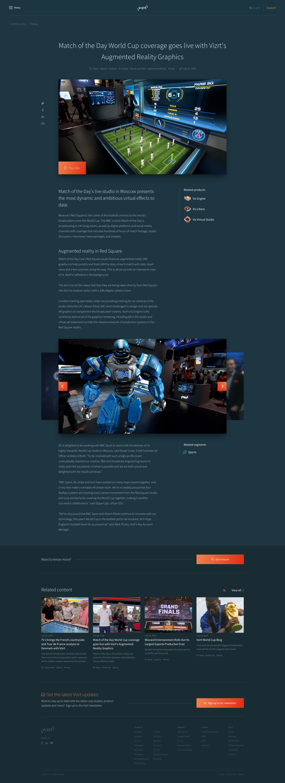 Jens Nielsen / Projects / Vizrt com - Unleash visual storytelling