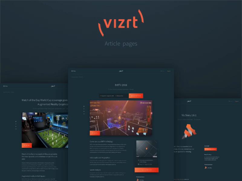 New vizrt com - Article pages by Jens Nielsen | Dribbble | Dribbble