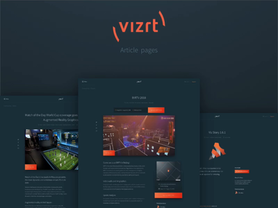 New vizrt.com - Article pages news product update sign-up event booking article article pages content creation content design design