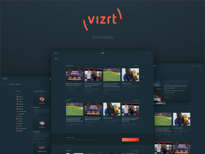 New vizrt.com - Overviews categories sorting content news search overview design overviews