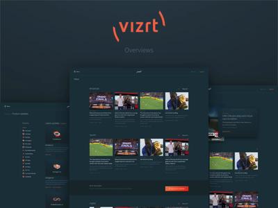 New vizrt.com - Overviews categories sorting content news search overview design overviews