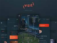 New vizrt.com - Mobile views