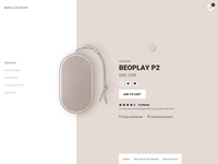BeoPlay P2 product page