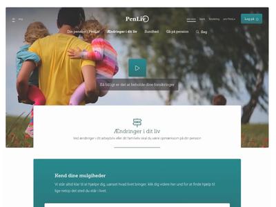 PenLiv - Section frontpage pension design camera rotator content design content page section page section content
