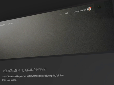 Grand Home - Streaming service - About page cta button cta redesign redesign concept about about page content content design digital design
