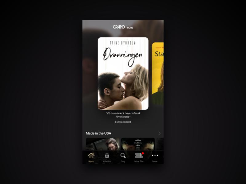 Grand Home - App home screen home screen mockup app design rental streaming movies app movies app design ui redesign