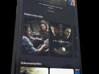 Grand Home - Movie carousel covers content ui animation ui movie app rotato principle streaming movies app app carousel