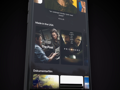 Grand Home - Movie carousel - Detailed app ui streaming app streaming movies carousel micro interaction motion