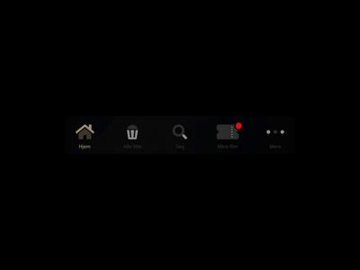 Grand Home - Menu animations principle for mac streaming app streaming app ui animation ui tapbar navigation menubar app menu