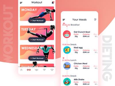 Fitness App design fitness app