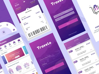 Travel App android colours travel design app
