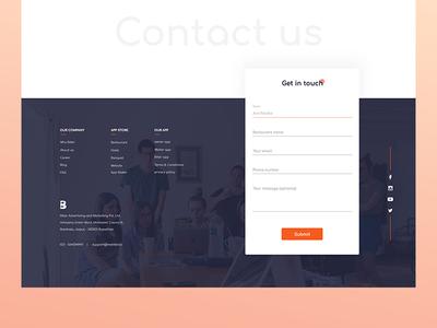Contact Us colour web colours dribble ui form design contact footer