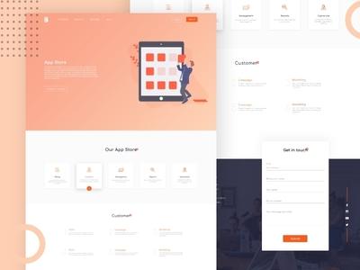 App Store Webpage app ui design dribble illustration colours ui web design