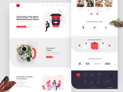 Cafe homepage re-branding color ux  ui cafe uidesign landing page web