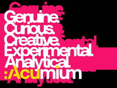 Acumium Brand Attributes Banner + T-Shirt