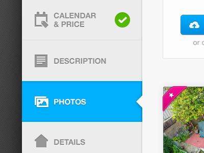 Navigation ui nav selected blue photos icons