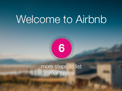 Welcome ui photo blur airbnb welcome steps