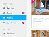 Listing Navigation ui navigation nav icons airbnb selected photos