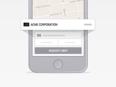Uber for Business illustration uber iphone payment credit card magnify ui mobile ios app