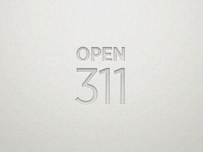 Open311 Logo logo paper inner shadow texture type