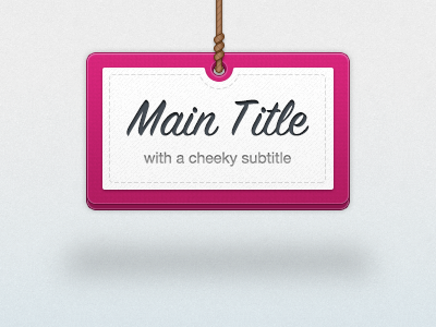 Hanging Sign ui title sign rope texture pink blue sky shadow