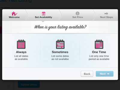 Availability ui calendar icons modal retina check selected @2x steps interface interaction select one