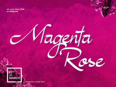 Magenta Rose Font invitation font sensual romantic boutique classy handwriting feminine fashion elegant script wedding