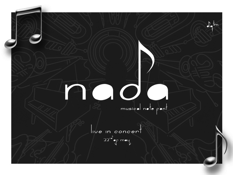 Nada Font freebie pitch notation musical font free sound melody song piano note music