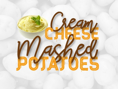 Red Peppers Font Duo in use fresh chic organic vegan drops font cheese script melted delicious potatoes