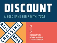 Discount Typeface from FontSeed.com