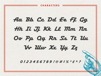 Hamilton Script Typeface on www.FontSeed.com