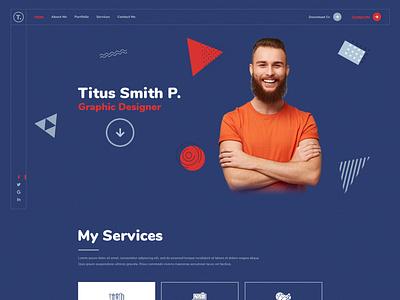 Titus - Personal Resume PSD Template psd cv resume portfolio resume cv