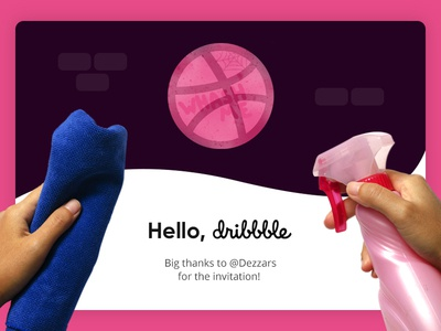 Dribbble happy design hello dribbble first debut