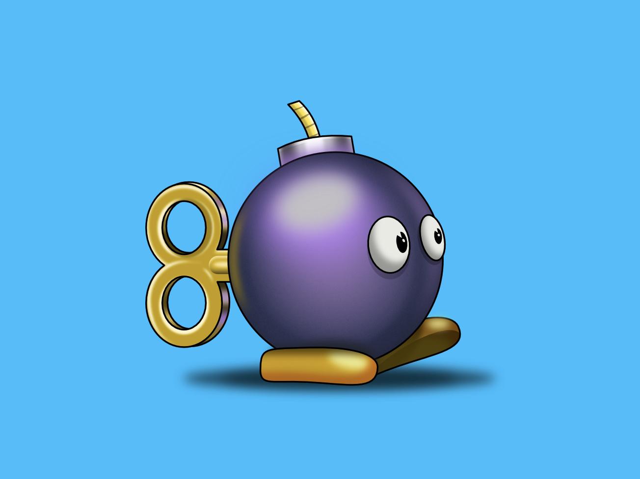 Super Mario Bomb supermario mario ipadpro affinitydesigner bomb