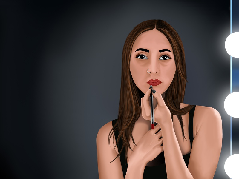 I'm not an artist but I draw attention' portrait digitalart photoshop drawing graphicdesign design ditigial character painting illustration digital art