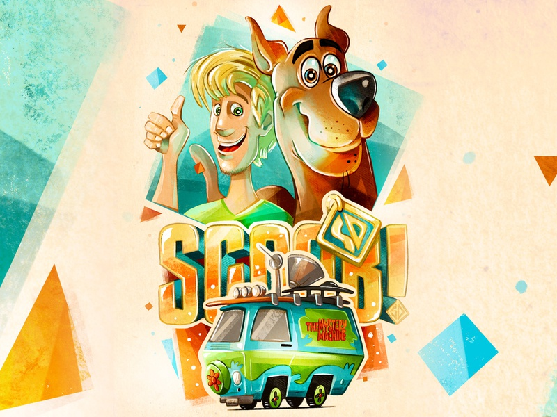 SCOOB! (fan poster) graphic art digital cartoon digital illustration scooby-doo movie poster procreate character illustration